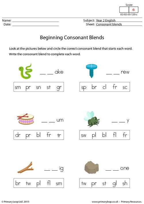 Beginning Blends 3 Worksheets   99Worksheets