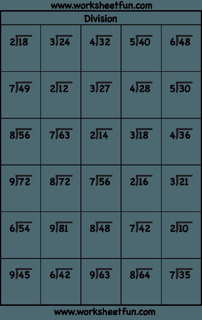 Division Dash Worksheets 99Worksheets