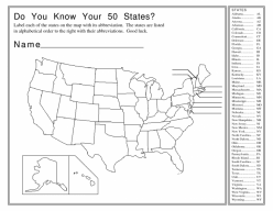 Geography: Know The States