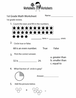 Fraction Review Worksheet