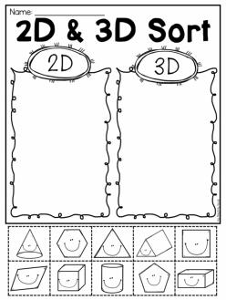 Sort 2D And 3D Shapes
