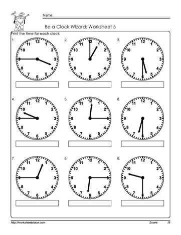 3rd Grade Clocks and Time Worksheets