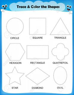 Trace And Color Shapes