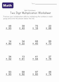 Two-Digit Multiplication