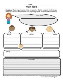 Text Features with Graphic Organizer