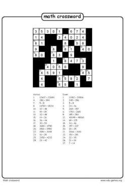 Math Crossword
