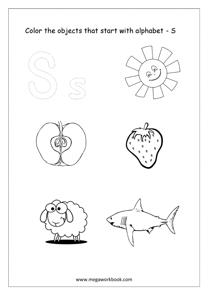 Alphabet Picture Coloring Pages