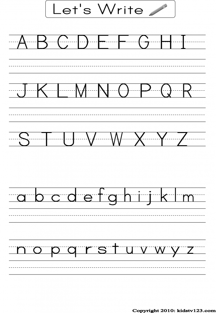 Writing The Letter A Worksheets 99Worksheets