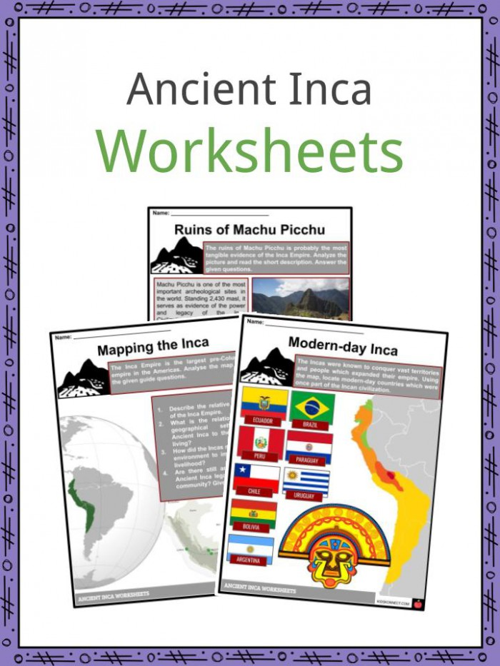 Ancient Inca Facts   Worksheets