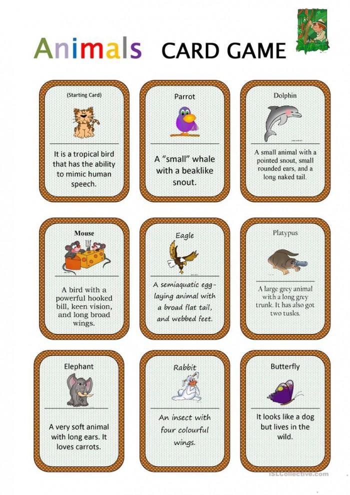 Animals Card Game