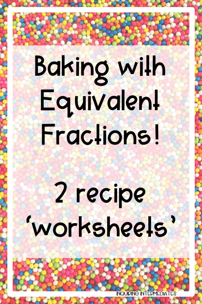 Baking With Equivalent Fractions