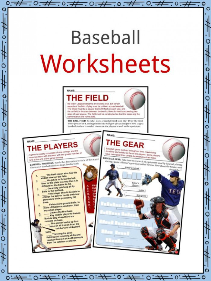 Baseball Facts  Worksheets  Early Baseball   Rise Of The Stars For