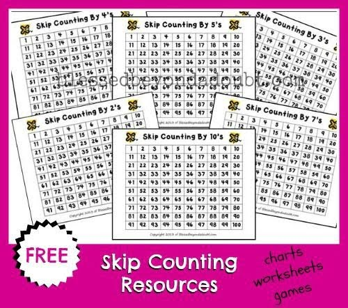 Free Skip Counting Cards And Resources