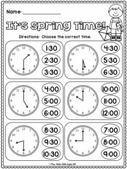 Telling Time: On The Half Hour