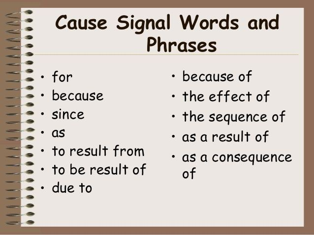 Cause And Effect Essay And Signal Words
