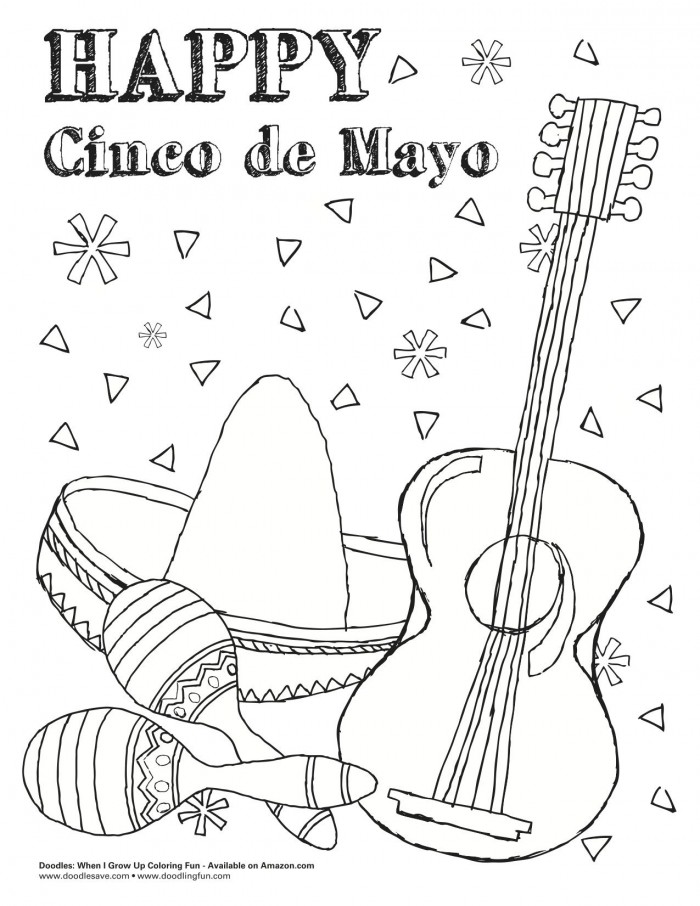 Cinco De Mayo Coloring Pages With Images