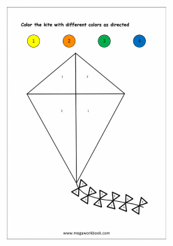 Color By Number: Kite
