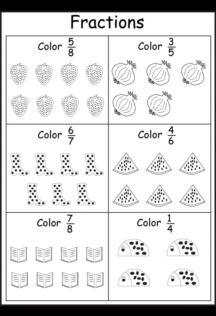 Fraction Coloring Worksheets 99Worksheets