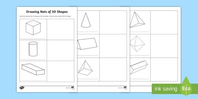 D Shape Nets Pdf Worksheet