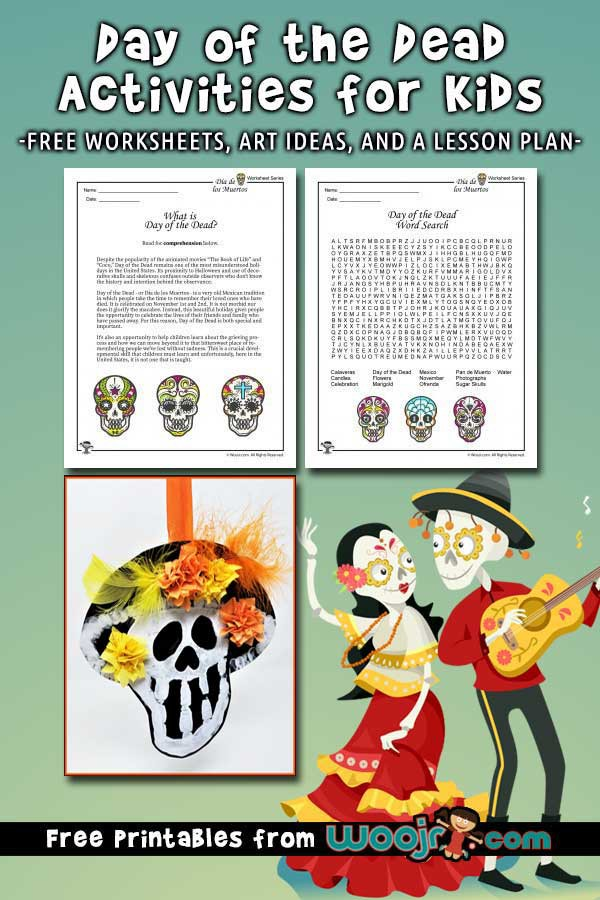 Day Of The Dead Activities  Worksheets   Lesson Plan