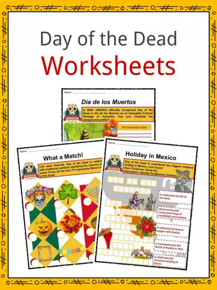 Day Of The Dead Facts  Worksheets  Observance  Traditions