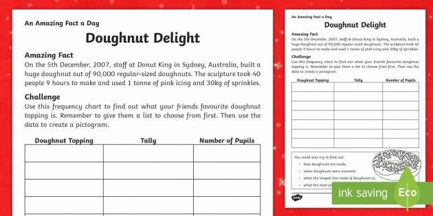 Delicious Donuts Worksheet  Worksheet Teacher Made
