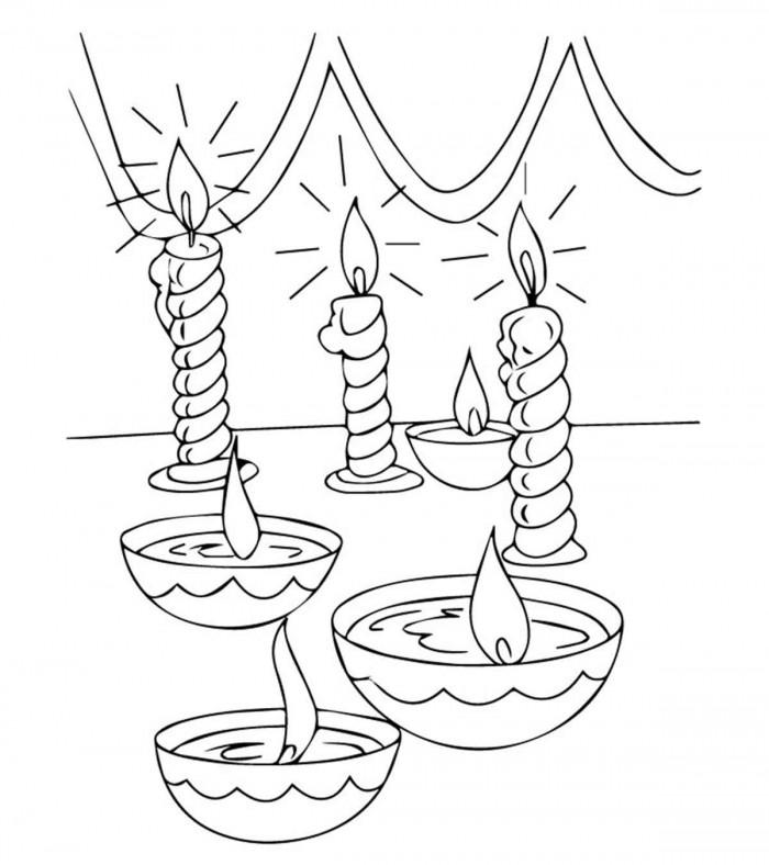 Draw A Diwali Diya Worksheets   99Worksheets