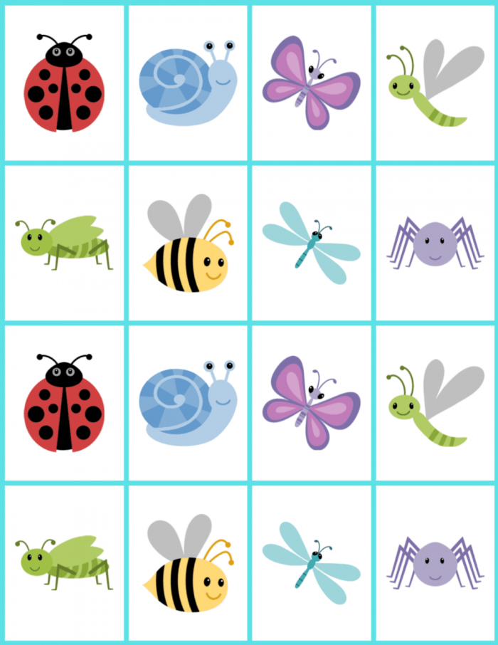 Diy Memory Game Cards For Kids Free Printable