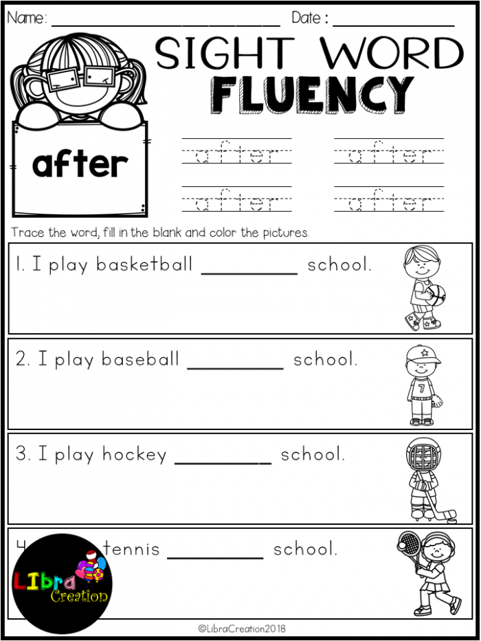 Dolch Sight Word Fluency St Grade With Images