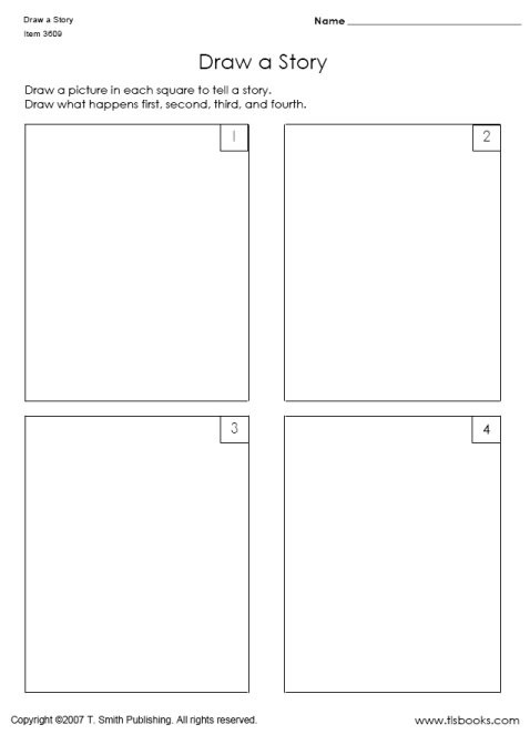Draw A Story In Sequence Worksheets
