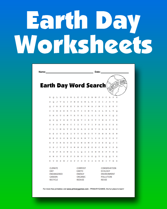Earth Day Worksheets  Free Online Games At Primarygames