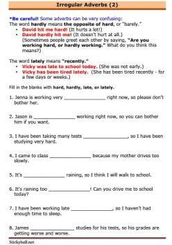 Grammar Review: Adverbs