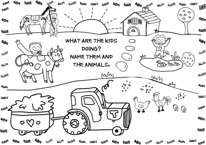Farm Coloring Pages