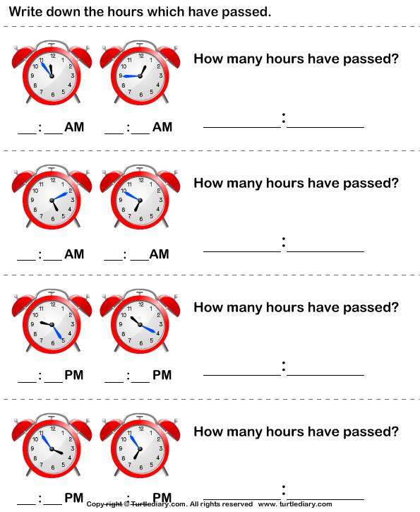 Find Elapsed Time Worksheet