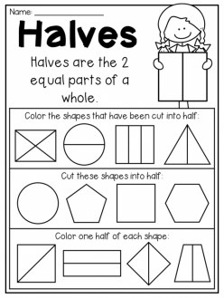 Identifying Halves, Thirds, And Fourths
