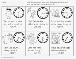 Telling Time: A.M. Or P.M.?