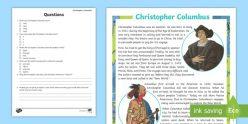 Reading Fluency: Christopher Columbus