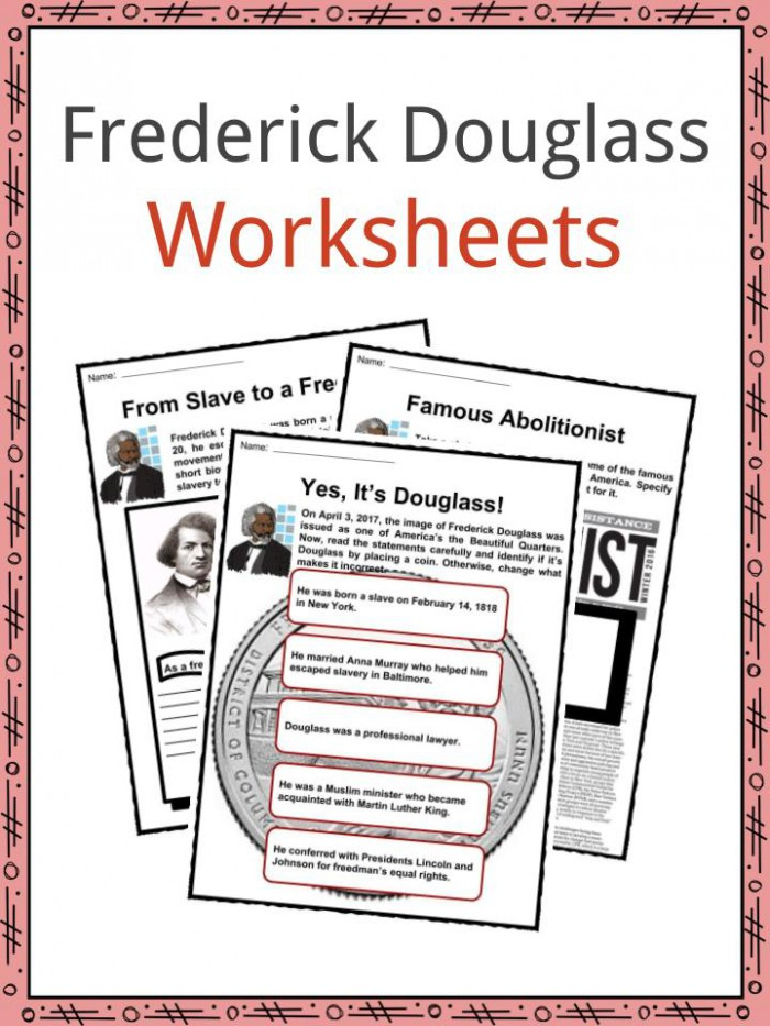 Frederick Douglass Facts  Worksheets   Biography Information For Kids