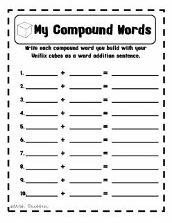 Word Addition: Compound Words 3