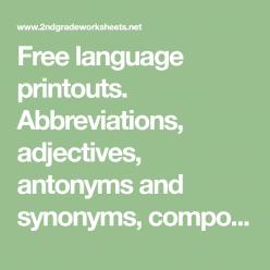 Grammar Basics: Compound Words, Contractions, & Abbreviations