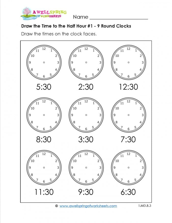 Tell The Time! 1 Worksheets | 99Worksheets