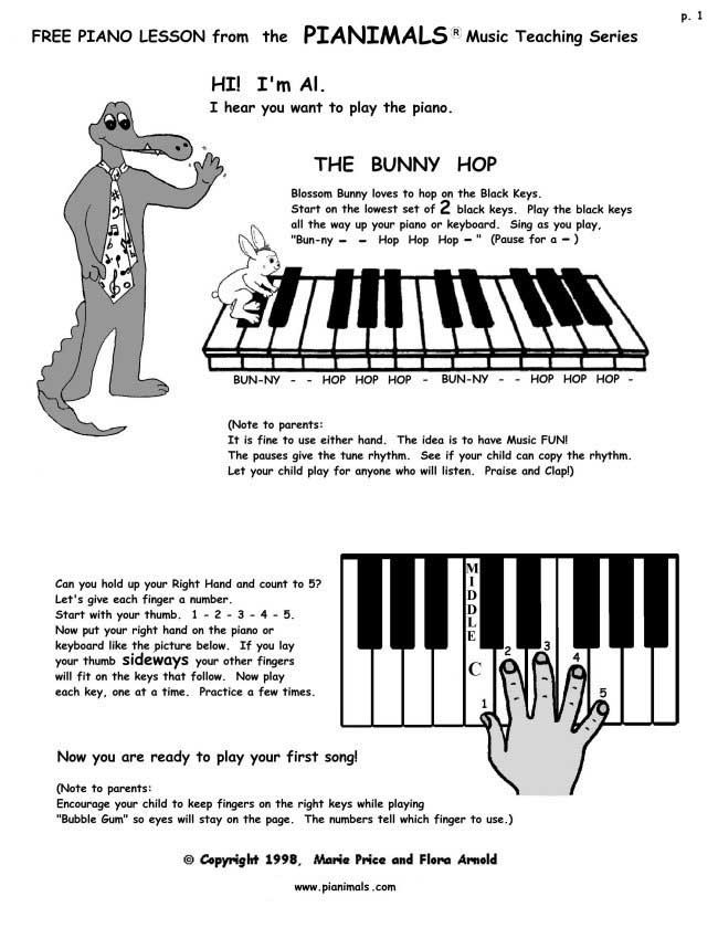 Free Piano Worksheets   Free Sheet Music For Kids