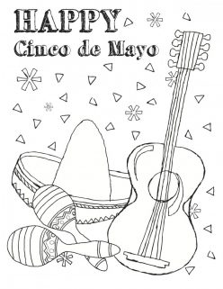 Color The Cinco De Mayo Instruments