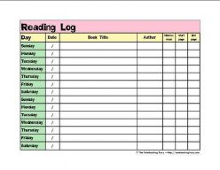 Reading Log And Graph