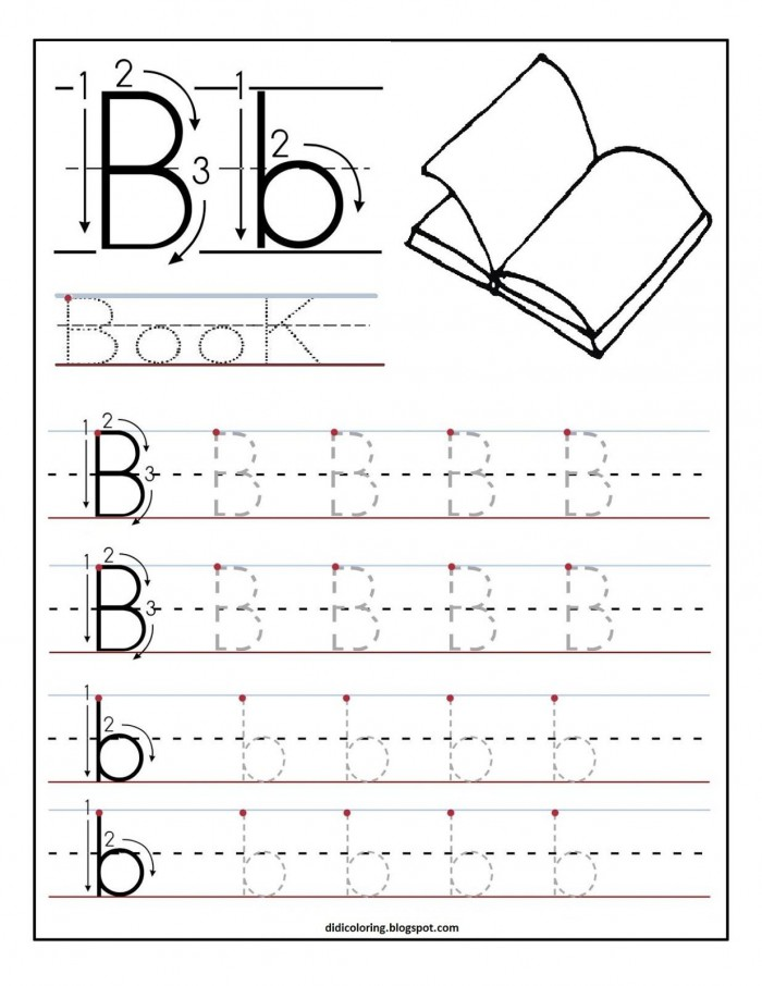 Free Printable Worksheet Letter B For Your Child To Learn And