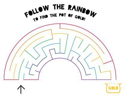Free Unicorn Rainbow Mazes Sheets