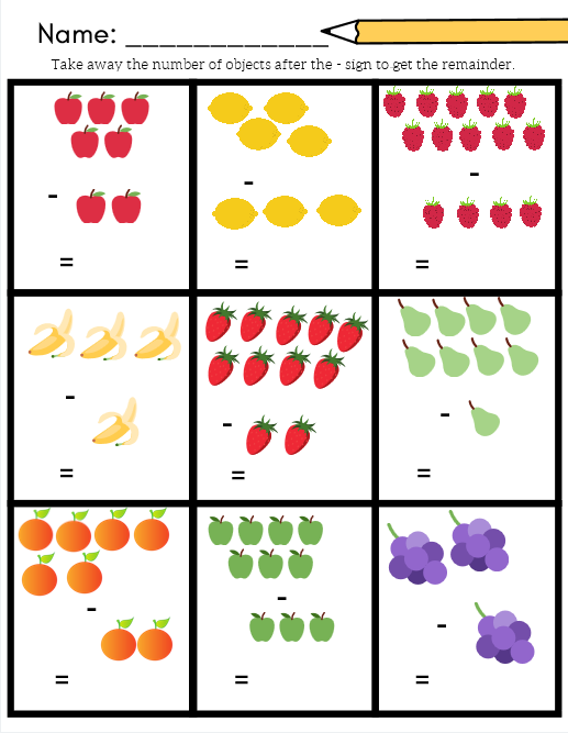 Fruit Math For A Grocery Or Plant Unit Addition And Subtraction