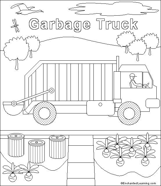 Garbage Truck Template