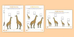Giraffe Measuring Activity