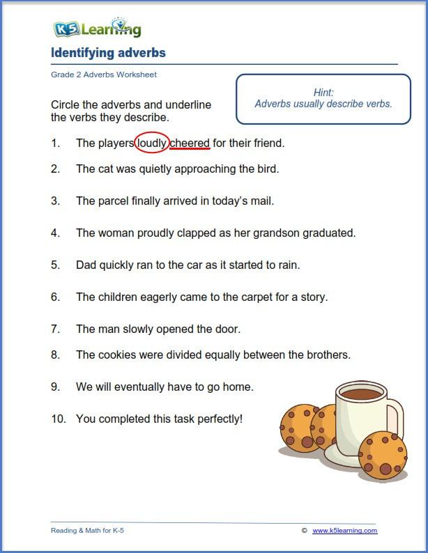 Grade  Adverbs Worksheets